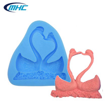 factory supply goose couple Fondant Making Mold, wedding Cake Decoration Silicon Form