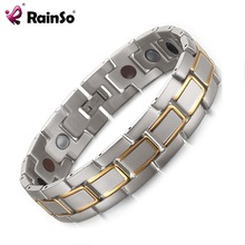 2018 Arthritis Stainless Steel Hand Far Infared healthy Bracelet for Men