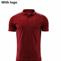 New season 2018 Red Men Football Suit with Team Logo Player Name and Number/DIY Thailand Quality Football Clothes Soccer Uniform