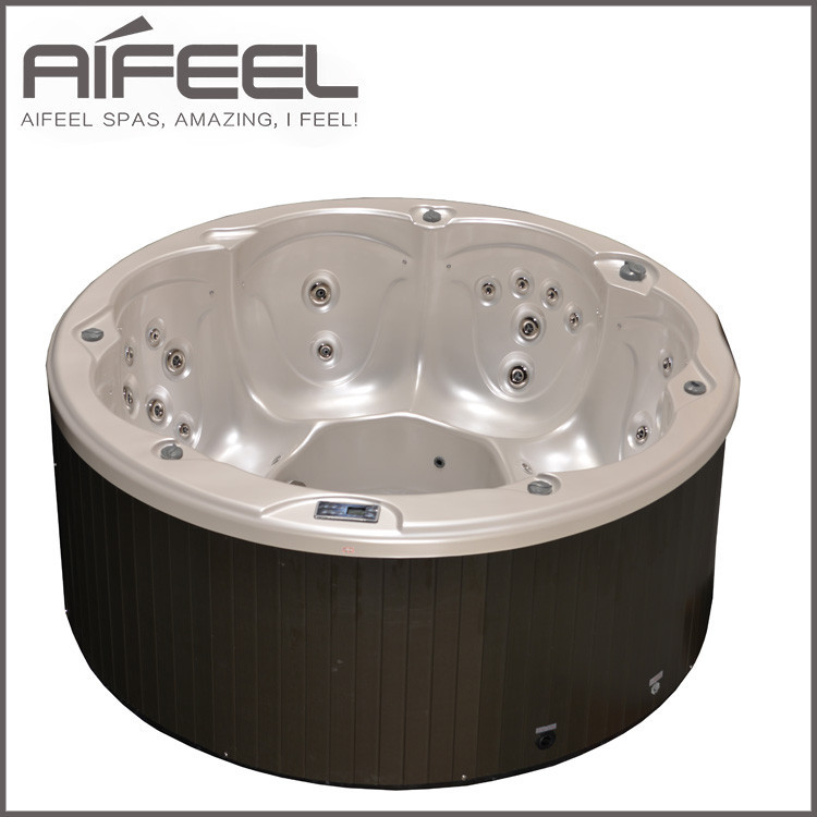 Aifeel 6 Person freestanding acrylic whirlpool massage round outdoor hot tubs for adult
