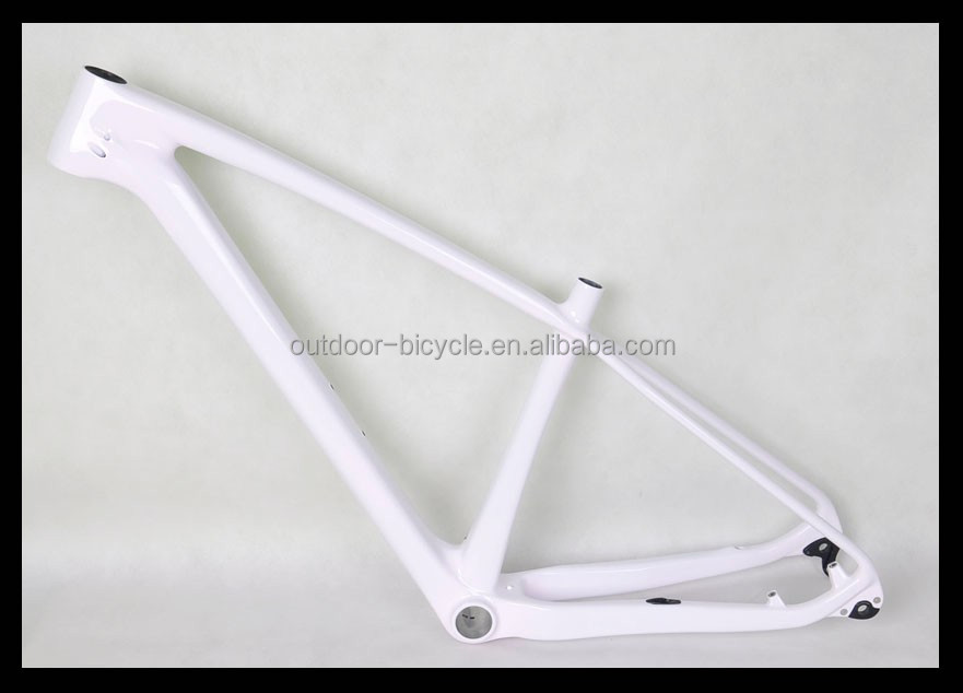 super light carbon mtb bike frame 27.5er T800 toray carbon fiber 135/142mm rear hanger full white color 27.2mm seatpost