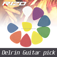 OEM with wholesale high quality guitar plectrum thickness for 0.5 0.6 0.73 0.88 1.0 1.14 1.2 1.5 Delrin guitar picks