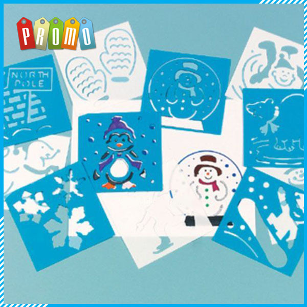 PP Stencils or PVC Stencils Customized Shaped Drawing Christmas Stencils