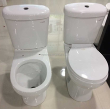 French dual water inlet washdown two piece toilet closet