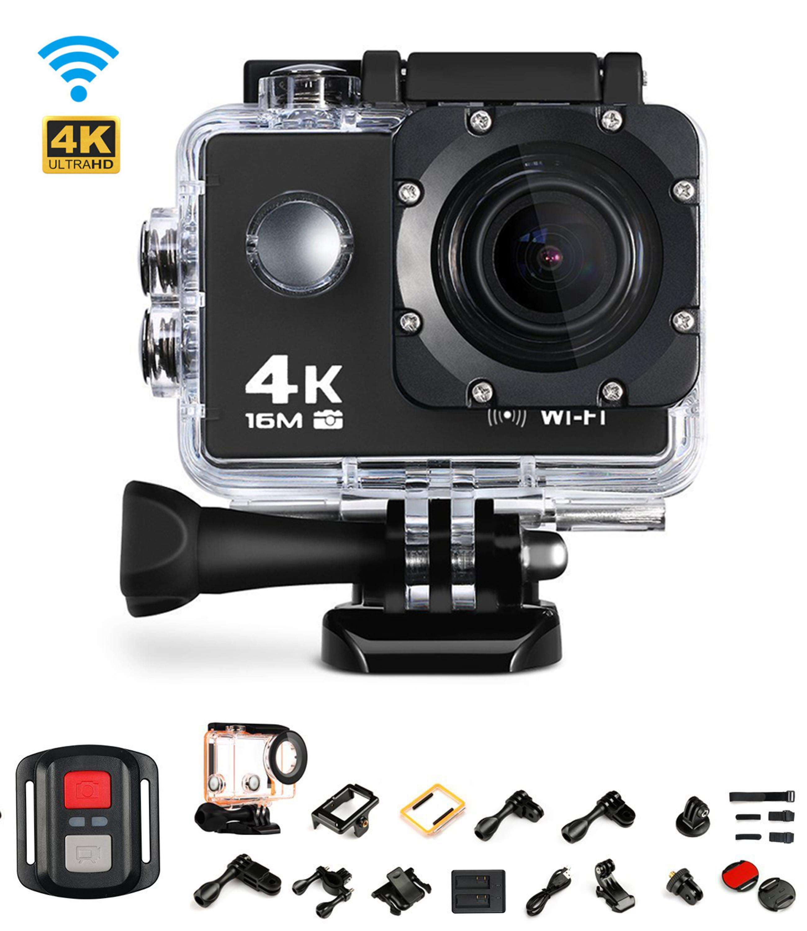 Hot Selling 2.0 inch LCD Ultra HD WiFi Sport action camera 4K 30M Waterproof digital video camera
