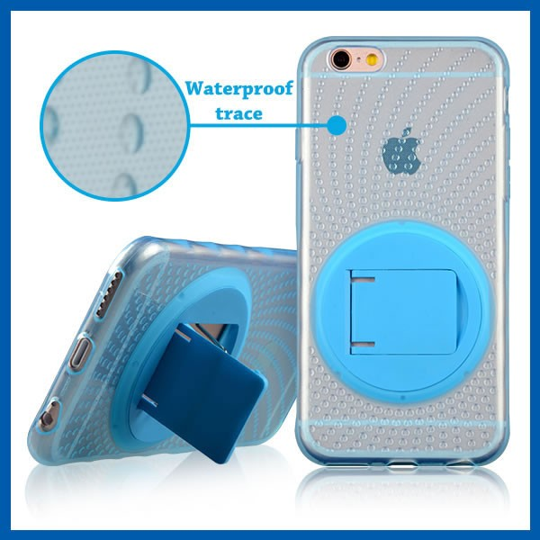C&T Hybrid armor defender transparent cystal clear Slim Soft TPU Kickstand Case for iPhone 6s Plus 5.5""
