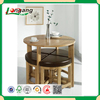 wooden round dining table set with chairs solid wood dining table and chairs cheap round KD dining room sets