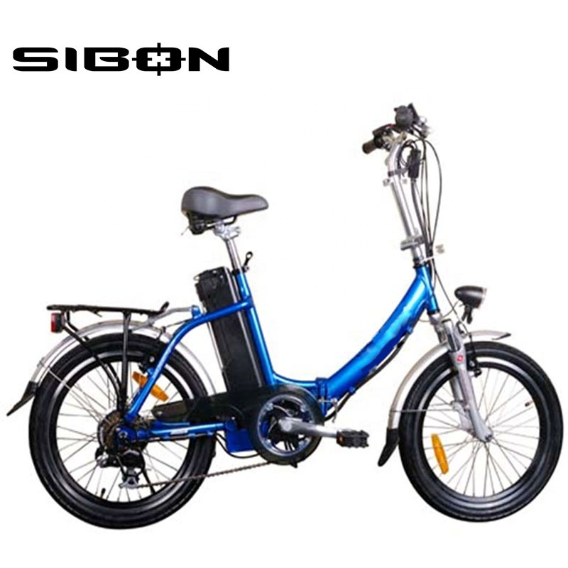 SIBON B0510105 CE 250W lithium battery brushless motor aluminium frame 6 speed folding bike <strong>electric</strong> made in China