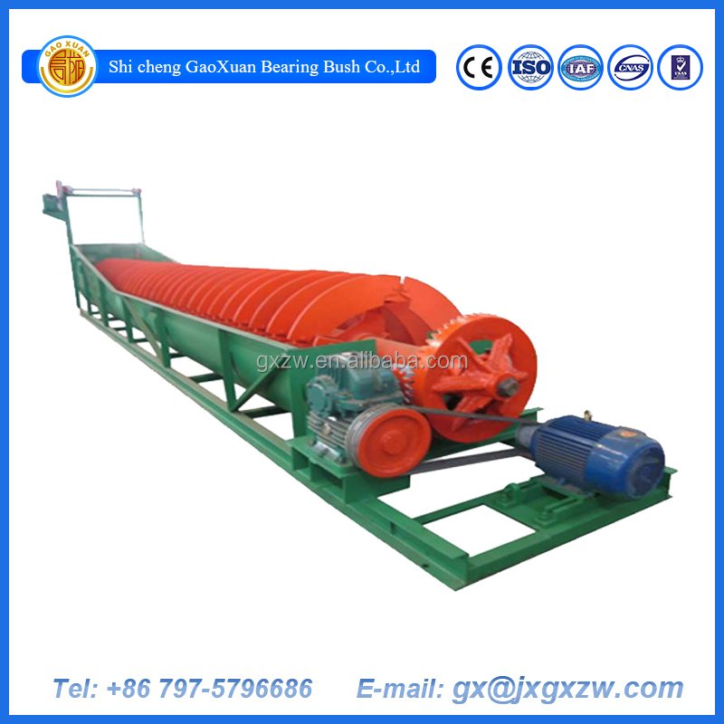 Factory price iron copper, gold iron ore upgrading spiral classifier with CE ISO certificate
