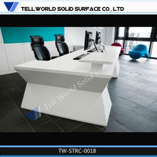 Fantacy factory wholesale design Solid Surface reception counter used reception table