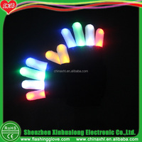 Christmas LED finger light glove with black color