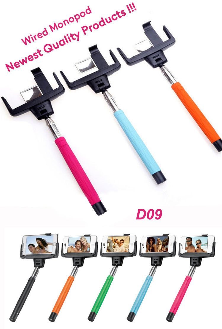 Factory price hot extendable hand held monopod, Wirless Camera Monopod Handheld Universal