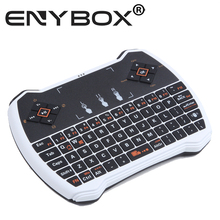 Wholesale 2015 Mini I9 I8 Plus 2.4G Original Wireless Keyboard Gaming Fly Air Mouse Touchpad For Android TV Box Keyboard By DHL