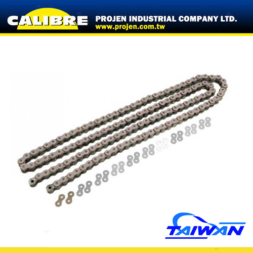 CALIBRE Silver 420 pitch 130L Motorcycle Colored Chains Drive Chain
