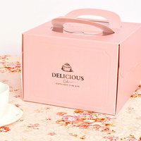 baby pink cardboard gift box classic style wedding cake box sweet love wedding money box for sale