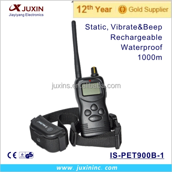 Good Quality Long Distance 1000m LCD Beeper Vibrate Static Shock Bark Control Training Collar