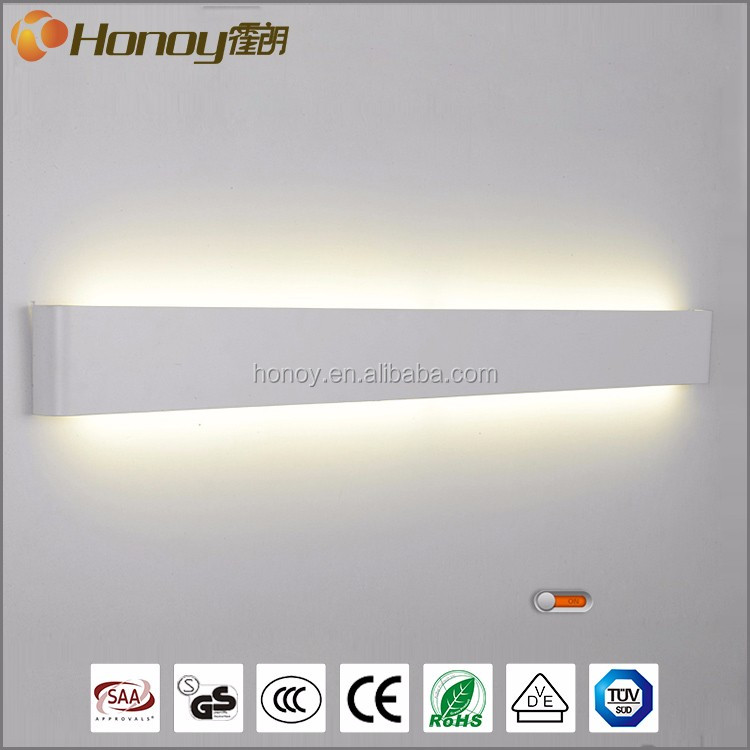 RoHS CE approval zhongshan lighting factory custom acrylic 20w indoor modern led wall lamp