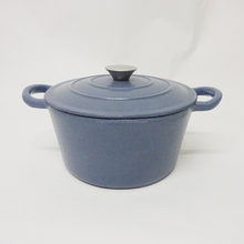 Round Blue Enamel Cast Iron Soap Dish/Casserole/Cooking Pots/Cocottes