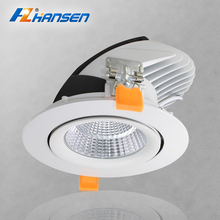 Round Trim Ring 10w 20w 30w 40w 360 degree Adjustable recessed LED downlight gimbal Light