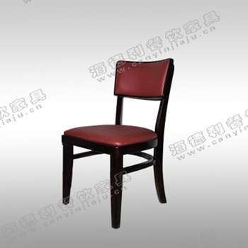 Contemporary Hotel Furniture/birch wooden frame dining chair with padded seat