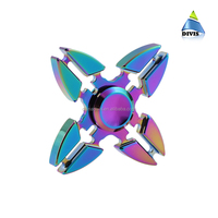 Most Popular colorful tri crab design the fidget hand spinner with rainbow effect alloy material hot selling