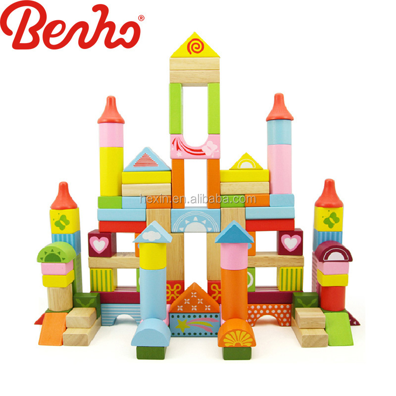 60pcs fantansy blocks Wooden Building Baby Toys