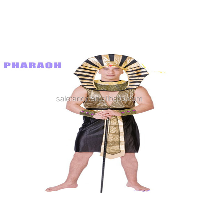Ramses Egyptian Pharaoh King Tut Halloween Party Outfit Mens Fancy Dress Costume QAMC-2179