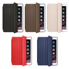 high quality PU leather cover for ipad leather case tablet case back holder
