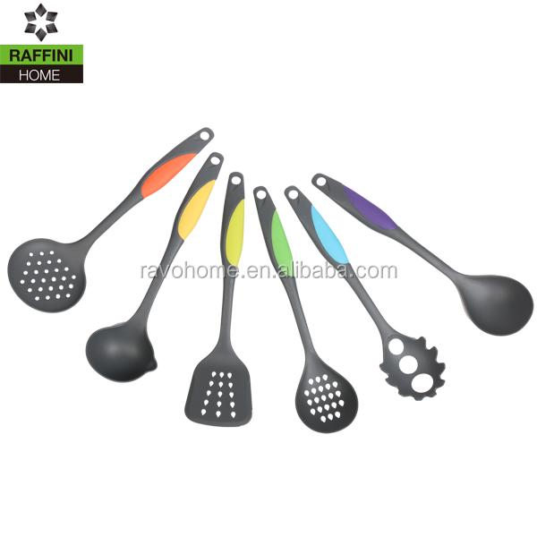 Fda approval 6pc set non stick nylon kitchen utensils for Kitchen set non stick
