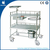 BT-SCT001 Four castor surgical instrument hospital Dressing Cart and trolley