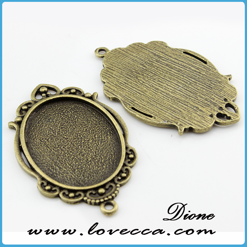necklace alloy setting antique bronze plating	,Alloy Jewelry accessory,Wholesale alloy metal blank pendants