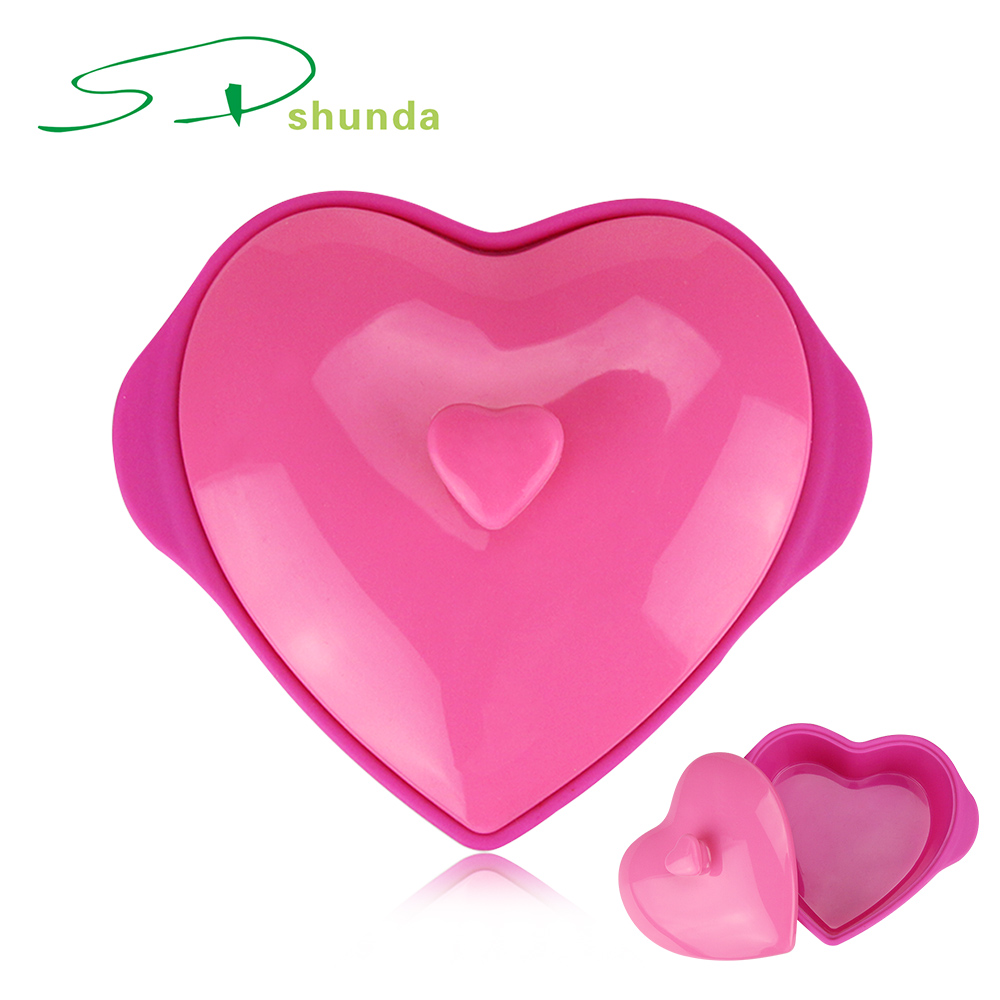 Creatve High Quality Heat Resistant Heart Shaped Microwave Safe Silicone Bowl