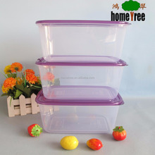 Microwave PP 1800ml Stackable Clear Plastic Attached-Lid Food Storage Container