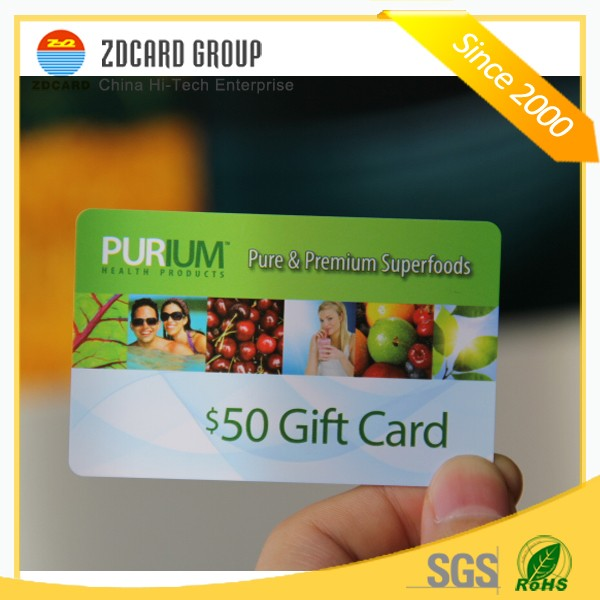 Manufacture customized good design making gift card with barcode