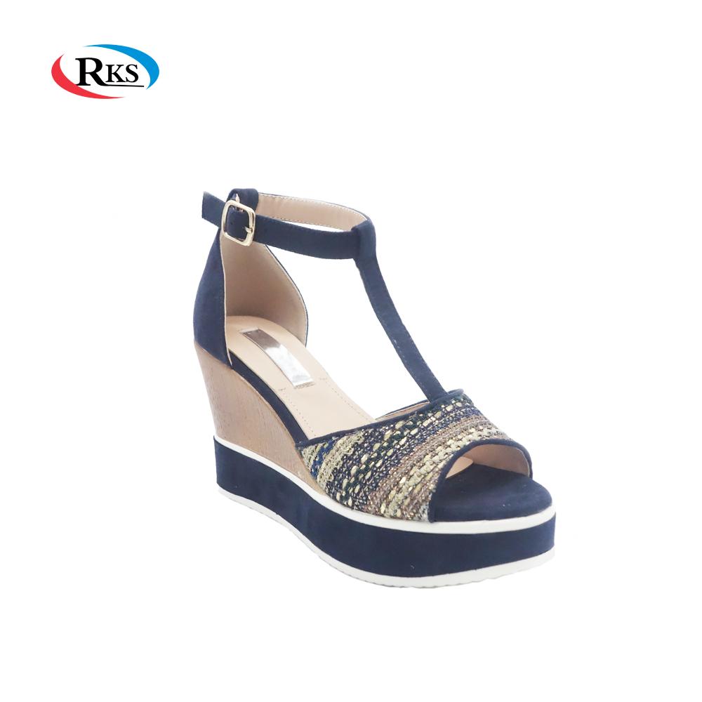f5cb0cbf4edabe 2018 Popular Latest Woman Ladies Wege Sandals Design - Buy Woman ...