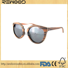 2016 eyewear wooden temples metal hinge sunglasses skateboard wood