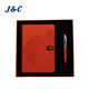 A5 PU Leather Notebook Pen Card Holder and USB Business Gift Sets