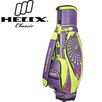 Helix 2016 ladis top design golf bag with wheels / ladies designer golf bag/pu leather golf cart bags