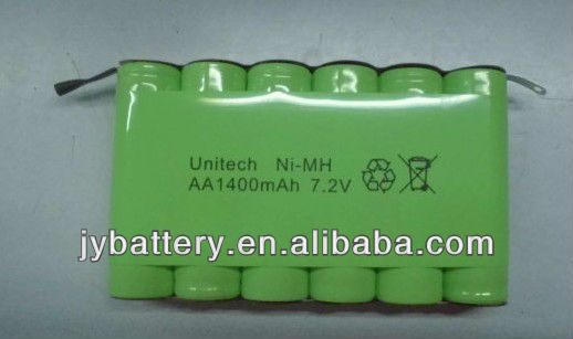 Unitech battery 1400mah 7.2v aa rechargeable battery pack