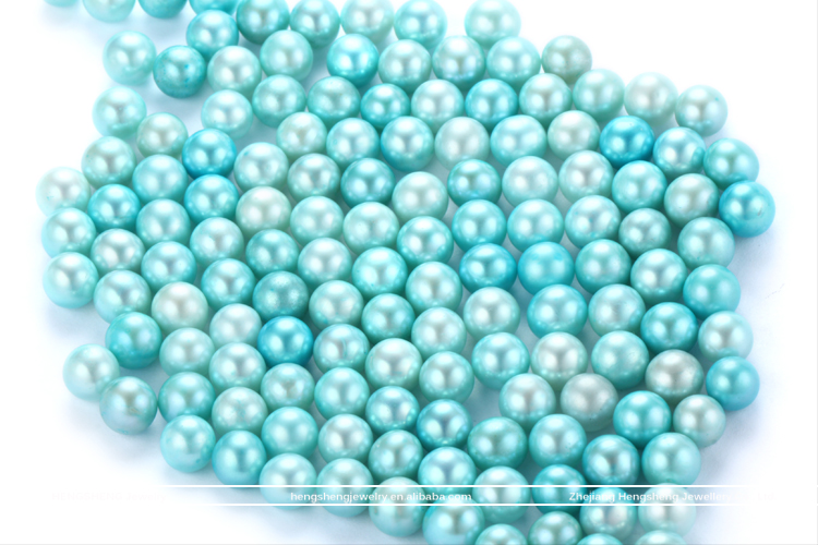 Hengsheng Fantastic Wholesale 6-8mm Vacuum packing Baby Blue Freshwater Akoya Pearl Oyster for Jewelry Making