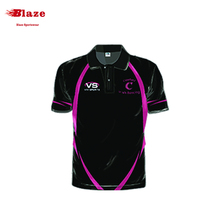Wholesale OEM service fitness dye sublimation printing custom polo shirt