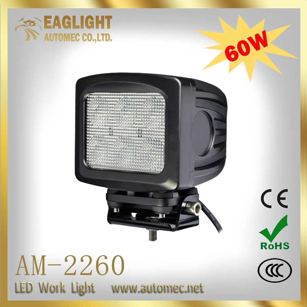 2016 New Product Wholesale 60W 5.2 Inch Flood Beam Led Work Light