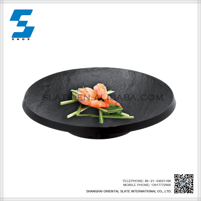 Hot Products Round Black Slate Black Cheese Cutting Board,Marble Cheese Board
