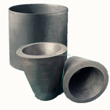 Customized any size High Pure and density graphite crucible for melting cast iron