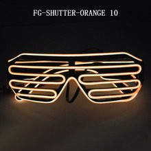 orange light led shutter glasses light up flashing glasses for party decoration