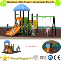 2016 Design slide matching swing for children Used Kids Outdoor Playground Equipment