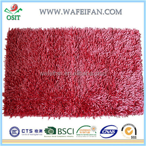 chenille microfiber polyester anti slip shaggy carpet art deco rugs