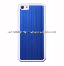 New Brushed Metal Aluminum Hard Case Cover For Iphone 5C black side/white side