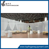 White chiffon Ceiling Drapes for wedding and party
