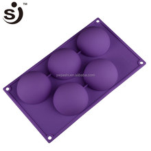 "Dia 2.5"" Half Ball Sphere Cake Muffin Pastry Mold Jello Silicone Baking Mold Bake King Bakeware"